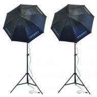 Vizážistický set trvalých světel s deštníky