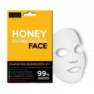 Regenerační textilní pleťová maska pro poškozenou pleť 35+ / honey