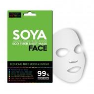 Textilní pleťová maska pro unavenou pleť / soya