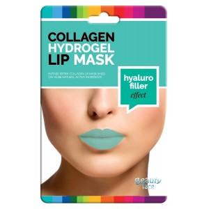 Kolagenová hydrogelová maska na rty pro hyaluronový vyplňující efekt