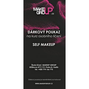 Dárkový poukaz na osobní kurz líčení Self Makeup