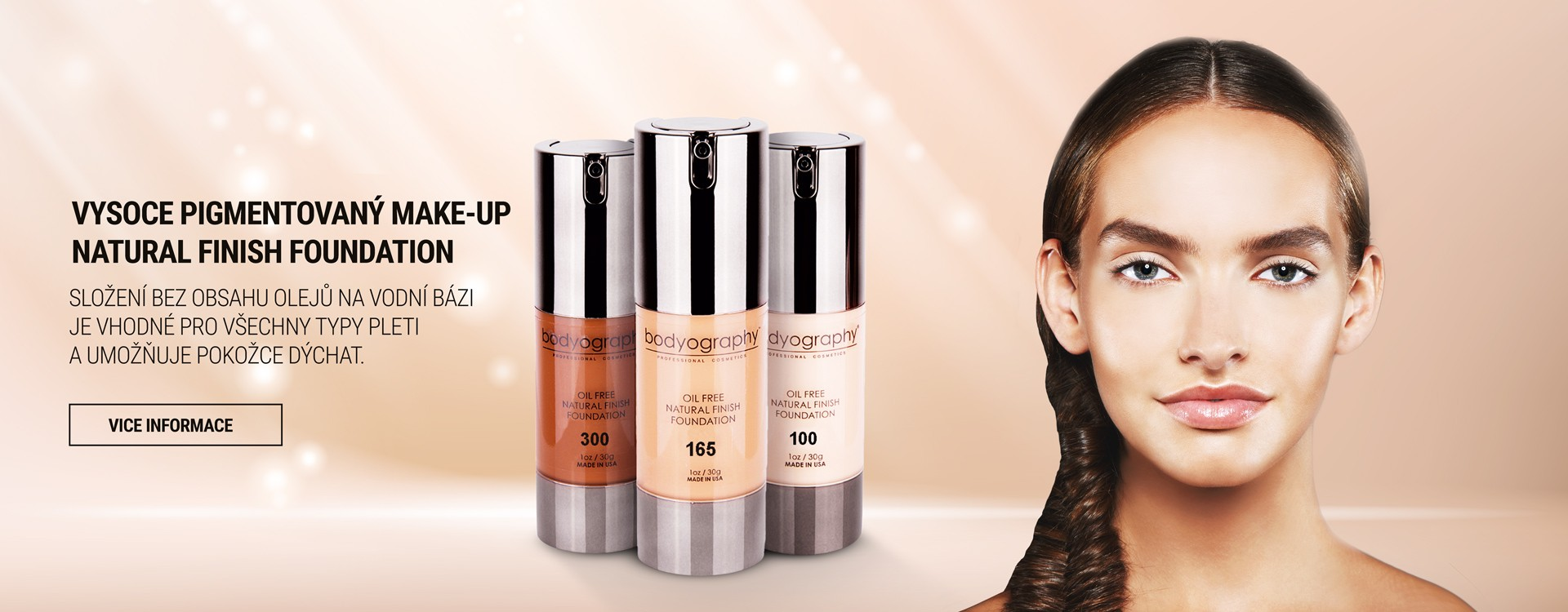 Vysoce pigmentovaný make-up Natural Finish Foundation